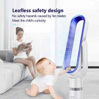 16 Inches No blade Fan Super Quiet Bladeless Floor standing Fan Low Noise Air Purifing Romote Controled Electric Fan