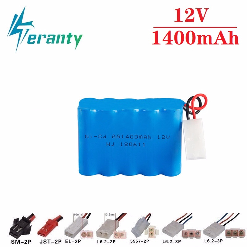 Upgrade 12v 1400mah NiCD Battery For Rc Toys Cars Tanks Trucks Robots Guns Boats AA Ni-CD 12v Rechargeable Battery Pack