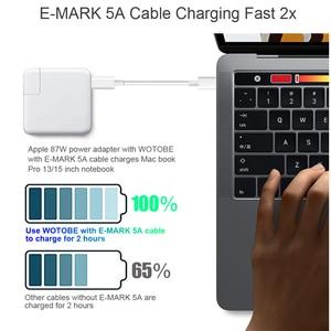 Image 5 - PD Ladegerät USB C Power Adapter 18W 30W 61W 87W QC 3,0 PD Ladegerät Für neue MacBook pro/Air Macbook iphone 11 pro/iPad Pro 2018