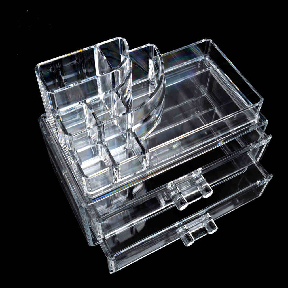 Clear Acrylic Storage Box Organizer <font><b>Makeup</b></font> Tools Holder Storage <font><b>Case</b></font>, Cosmetic Box Use for Display Lipstick, Jewelry image