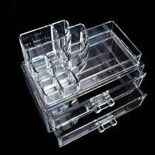 Clear Acrylic Storage Box Organizer Makeup Tools Holder Stor