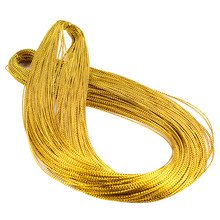 100m Rope Gold Silver Cord Gift Packaging String Metallic Jewelry Thread Cord DIY Tag Line Bracelet Making Labels Mark Lanyard(China)