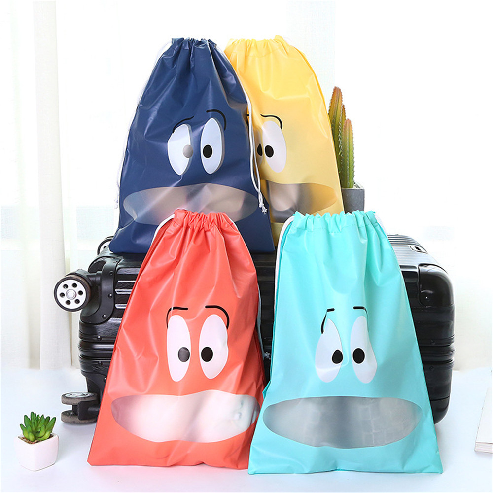 Waterproof Shoes Bag Pouch Storage Travel Bag Portable Tote Drawstring Bag Organizer Cover Non-Woven Laundry Dustproof Cover
