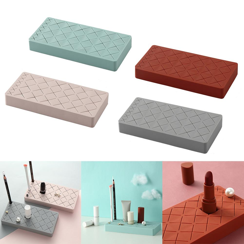 18-Grid Silicone Lipstick Storage Rack Cosmetics Storage Box Multi-grid Innovative Display Stand Makeup Holder Home Organizer