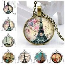 Новинка 2020 года Ожерелье в виде башни Парижа 3 цвета с выпуклой