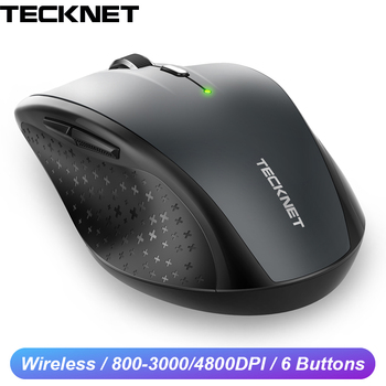 TeckNet Optical Wireless Mouse 6 Buttons 4800DPI with 2.4GHz USB Wireless Computer Ergonomic Mouse gamer Mause For Laptop PC