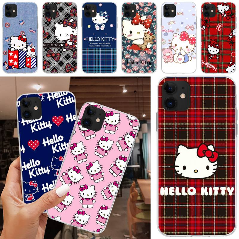 Cute Cartoon Hellos Kitties Phone Case Funda Coque Airpods For Iphone 11 12 Pro Max Case XR 6 7 8 Plus X 6s Mobile Accessories|Phone Case & Covers| - AliExpress