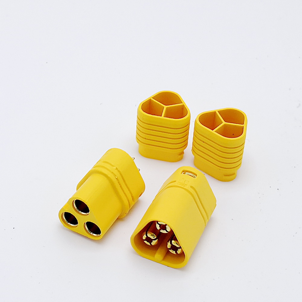 3 Pole MT60 Connector For RC Motor ESC Driver High Current 3pin Banana Plug Socket 10pcs/lot