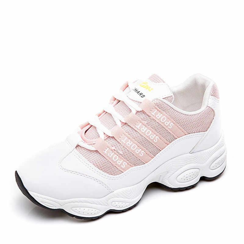 HOVINGE ผู้หญิง Vulcanize รองเท้าสบายๆรองเท้าสีขาวรองเท้าผ้าใบสีดำ Leisure รองเท้ารองเท้า Soled หนา
