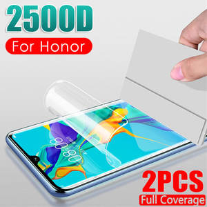 2Pcs 2500D Hydrogel Film Not Glass For Huawei Honor 20S 8S 9X 8X Honor 8 9 10 Lite 10i 20 Pro Full Cover Screen Protector Film