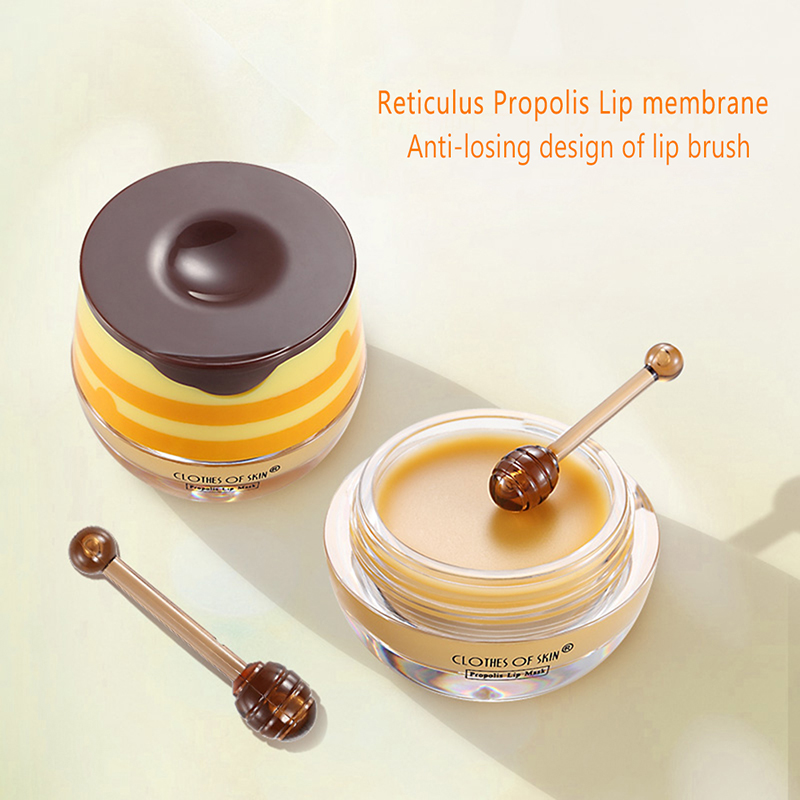 Propolis Lip Sleeping Lip Blam Moisturizing Desalinate Lip Lines Anti-dry And Prevent Chapping Lipblam Maquiagem image