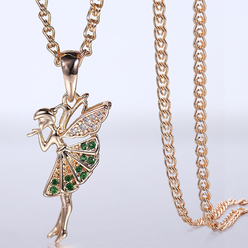 5PCs New Handmade Wing Pendant Zinc Alloy Guardian Angel Design Lightpink