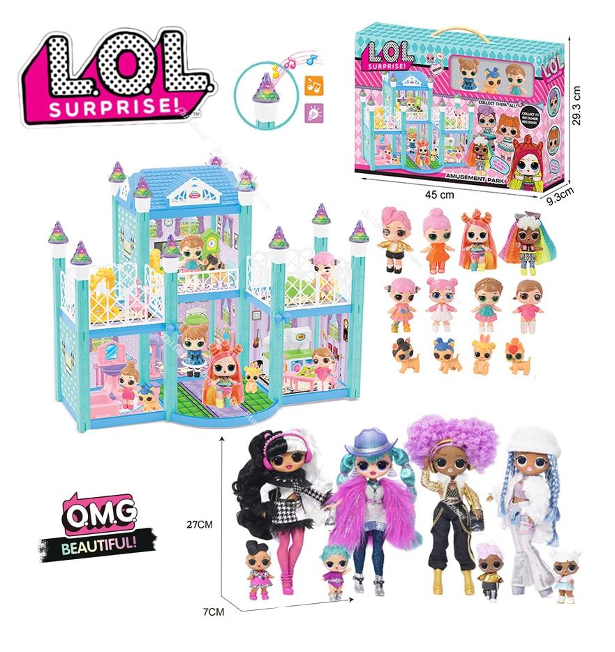 LOL – poupée Surprise OMG originale, jouets de maison de poupée à faire soi-même, Villa, hiver, Disco, à la mode, noël