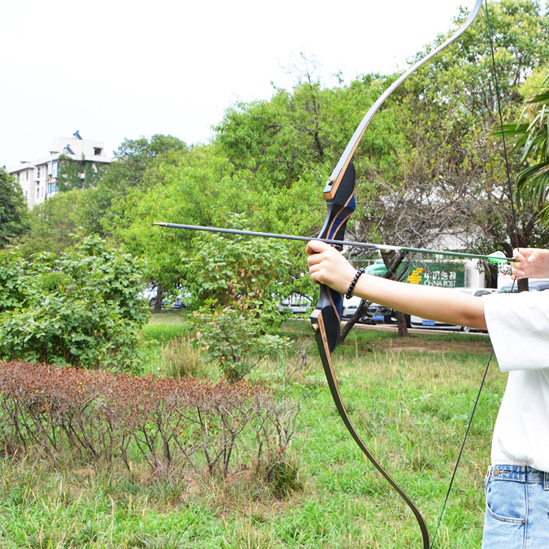 56 inch Archery Recurve Bow 20 55 lbs Hunting Bow With Stabilizer Bow Bag Arrow Rest Hunting Shooting Accessories in Bow Arrow from Sports Entertainment