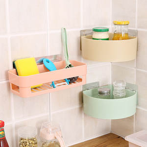 Shelf Makeup Triangle Storage-Rack Seamless-Stickers Toiletries Bathroom Plastic