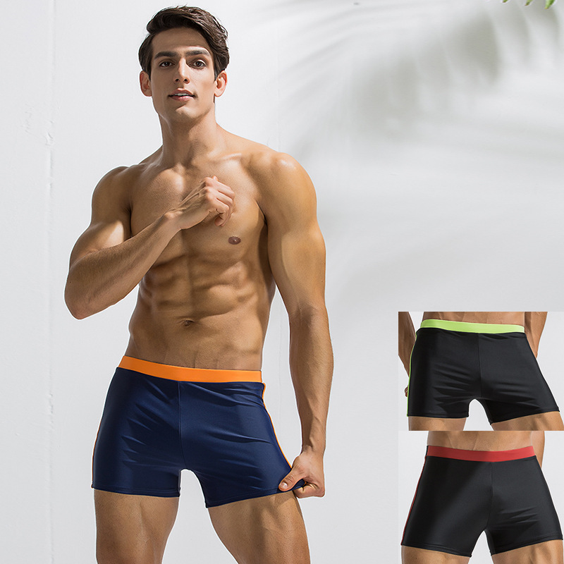 Amount-Bathing Suit Men's Boxer Swimming Trunks Men Waterproof Seaside Sweat-wicking Swimming Trunks