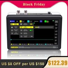 جهاز راسم الذبذبات ADS1013D بعدد 2 قناة 100 ميجاهرتز عرض النطاق 1GSa/s راسم ذبذبات معدل أخذ العينات مع شاشة لمس LCD TFT ملونة 7 بوصة