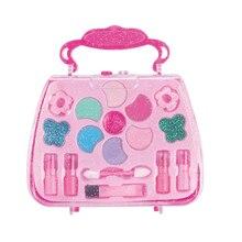 Makeup Set Fashion Pretend Play Girls Kit Safe Non-toxic Toys Preschool Kids Beauty Safety Toy for Children Girl Bag