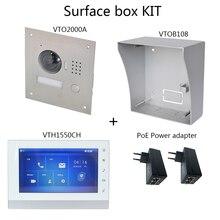 DH logo Multi Language Video intercom KIT Include VTO2000A S1 & VTH1550CH & PoE adapter,SIP firmware version