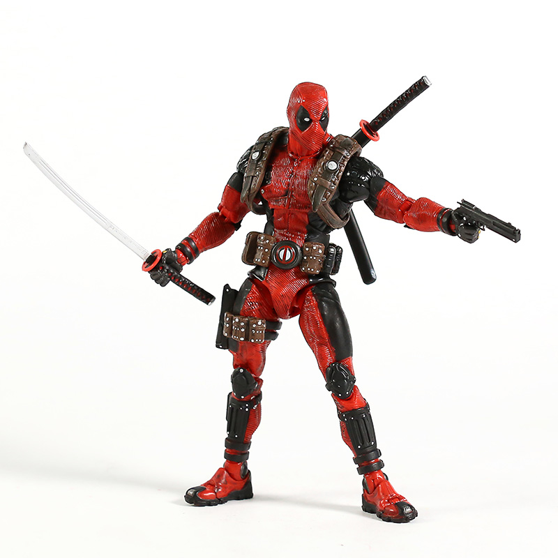 NECA Deadpool 1/10 Scale Ultimate Action Figure Collector Marvel Super Hero Model ToyAction & Toy Figures   -