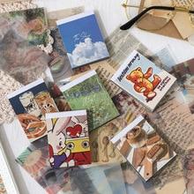 Cute Stationery Memo-Pad Book Journal 100-Sheets Sulfuric-Acid JIANWU Retro Paper-Material