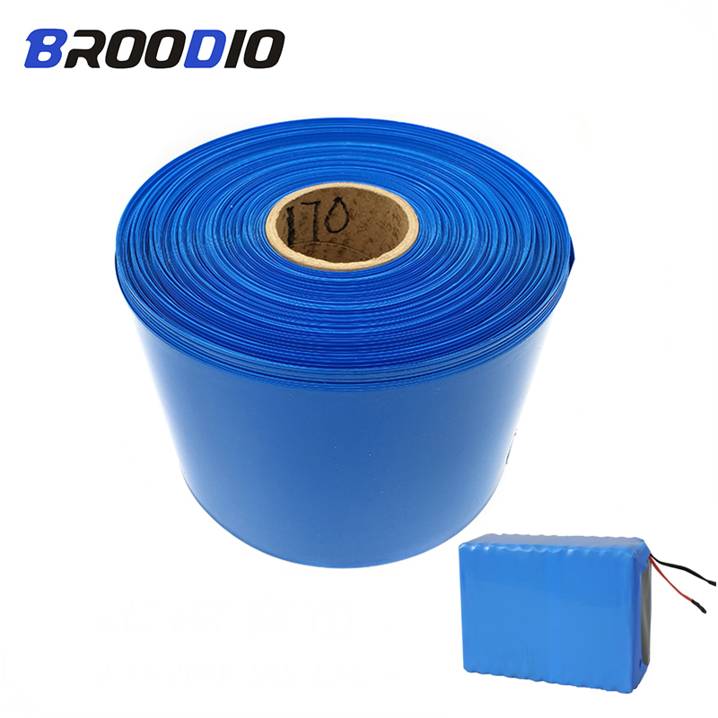 70mm - 210mm 18650 Lithium Battery Film Heat Shrink Tube Tubing Li-ion Wrap Cover PVC Shrinkable Tape Sleeves Cover Accessories