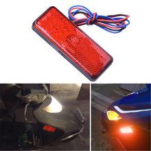 3 цвета Прямоугольник Отражатель мотоцикла задний тормоз указатель поворота лампа 24 светодиодный автомобиль/ATV светодиодные отражатели/Грузовик Боковые предупреждающие огни
