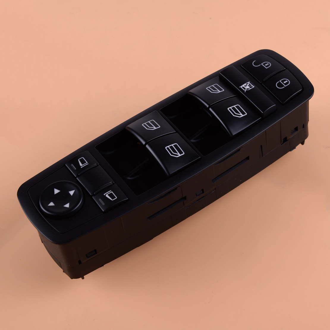 CITALL <font><b>A1698206610</b></font> Black ABS Window Master Switch Button Fit For Mercedes-Benz A B Class W169 W245 2005-2011 image