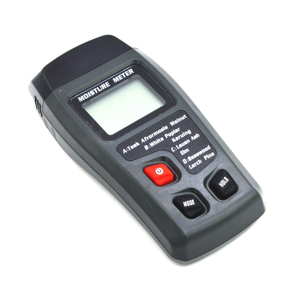 Новый цифровой ЖК дисплей измеритель влажности древесины +/ 0.5% точность 2 Pin измеритель влажности Портативный тестер/детектор влажности сен... - 3