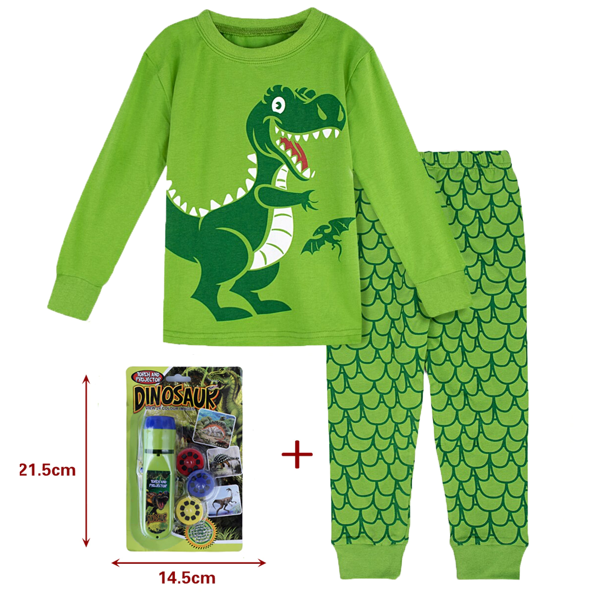 Пижамный комплект детский с динозавром, мультяшная одежда для сна, пиратский корабль, экскаватор, Игрушка-проектор
