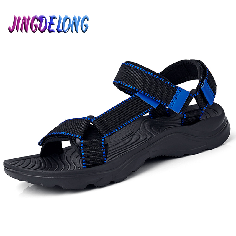 Fashion Mens Gladiator Sandals Summer Hook & Loop Mens Sandals Summer Outdoor Comfortable Mens Beach Shoes Famous Brand Shoe