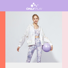 ONLY Women's Spliced Grids Hooded Sports Jacket | 120136587