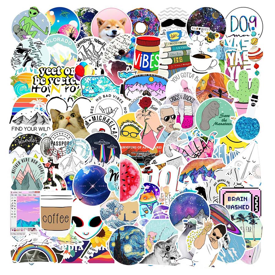103pcs Fresh Graffiti Sticker Girl For Suitcase Skateboard Refrigerator Laptop Stickers DIY Waterproof Decal