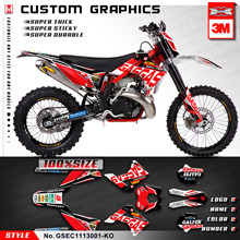 Decals-Kit Mx Stickers Kungfu-Graphics for GAS Gas-Ec 125/200-250/300/.. No.-Gsec1113001-Ko
