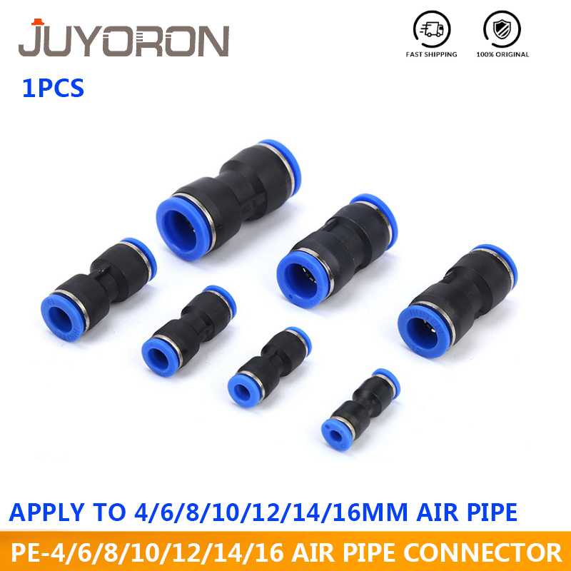 5Pcs 5mm Male Thread to 6mm Air Pneumatic Elbow Quick Connect Connectors