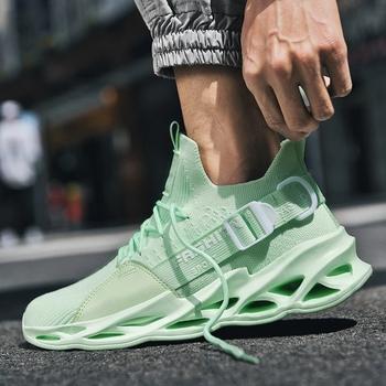 Men Running Shoes Unisex 2020 Mesh Breathable Light Sport Couple Shoes Sneakers Hot Big Size 36-46 Men and Women Shoes Zapatos tanie i dobre opinie dudeli CN (pochodzenie) ADIPURE Amortyzacja Do użytku na trawie na zewnątrz Zaawansowane Dla osób dorosłych oddychająca
