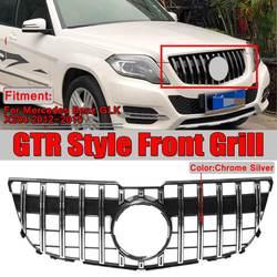 Nowy GLK X204 GTR GT Grill przedni zderzak samochodowy Grill Grille dla Mercedes Benz GLK X204 GLK250 GLK300 GLK350 2013 2014 2015