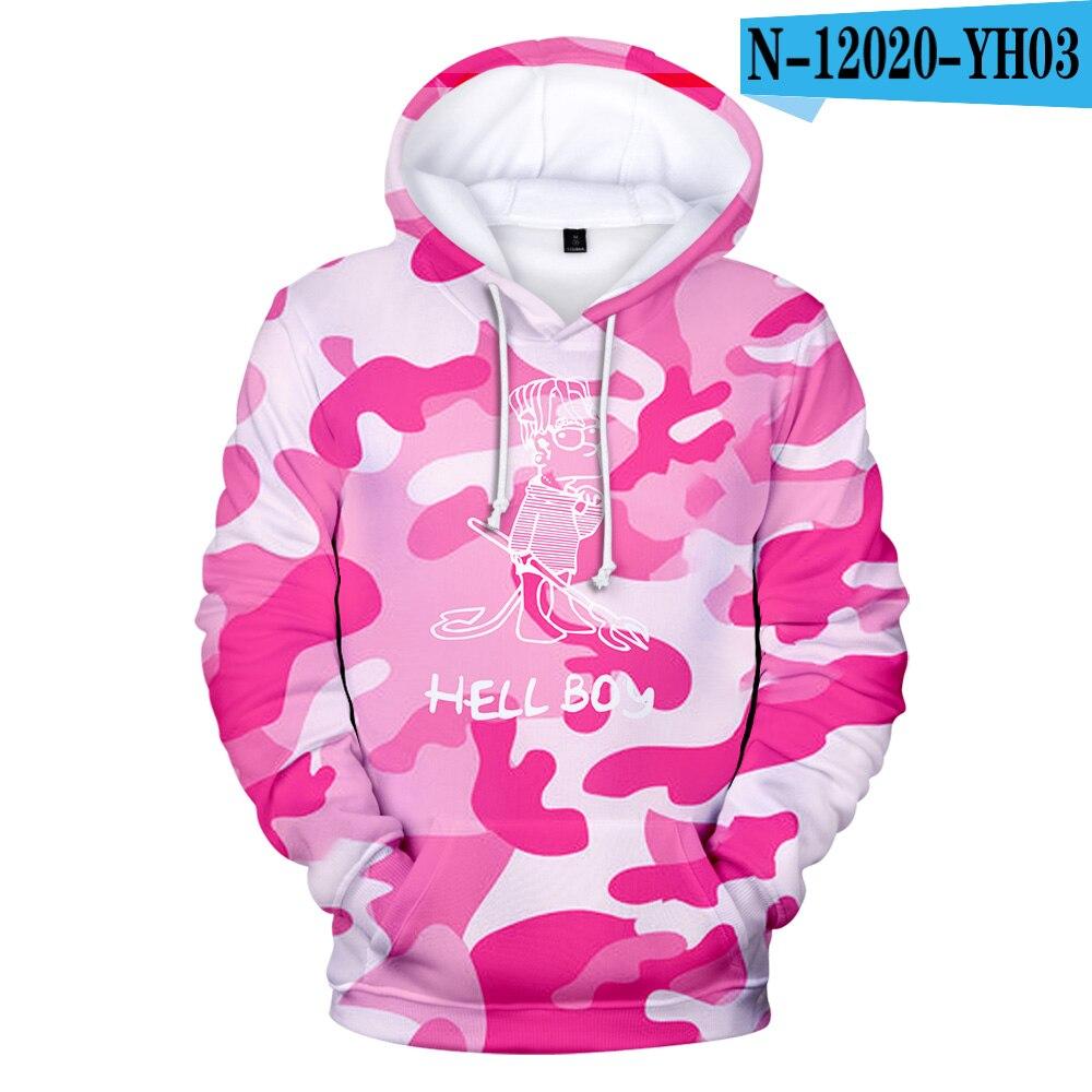 The Film Hell Boy Hoodies Men Sweatshirt Hooded 3D Kids Hoodie Hell Boy Streetwear Hoodie Men/Women Jacket Hip Hop Style