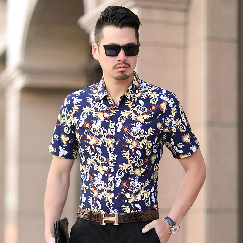 The Lates M-7X L6XL Men Shirt Summer High Quality Breathable Hawaiian Shirt Camisa Masculina Brand Casual Male Printed Plus Size