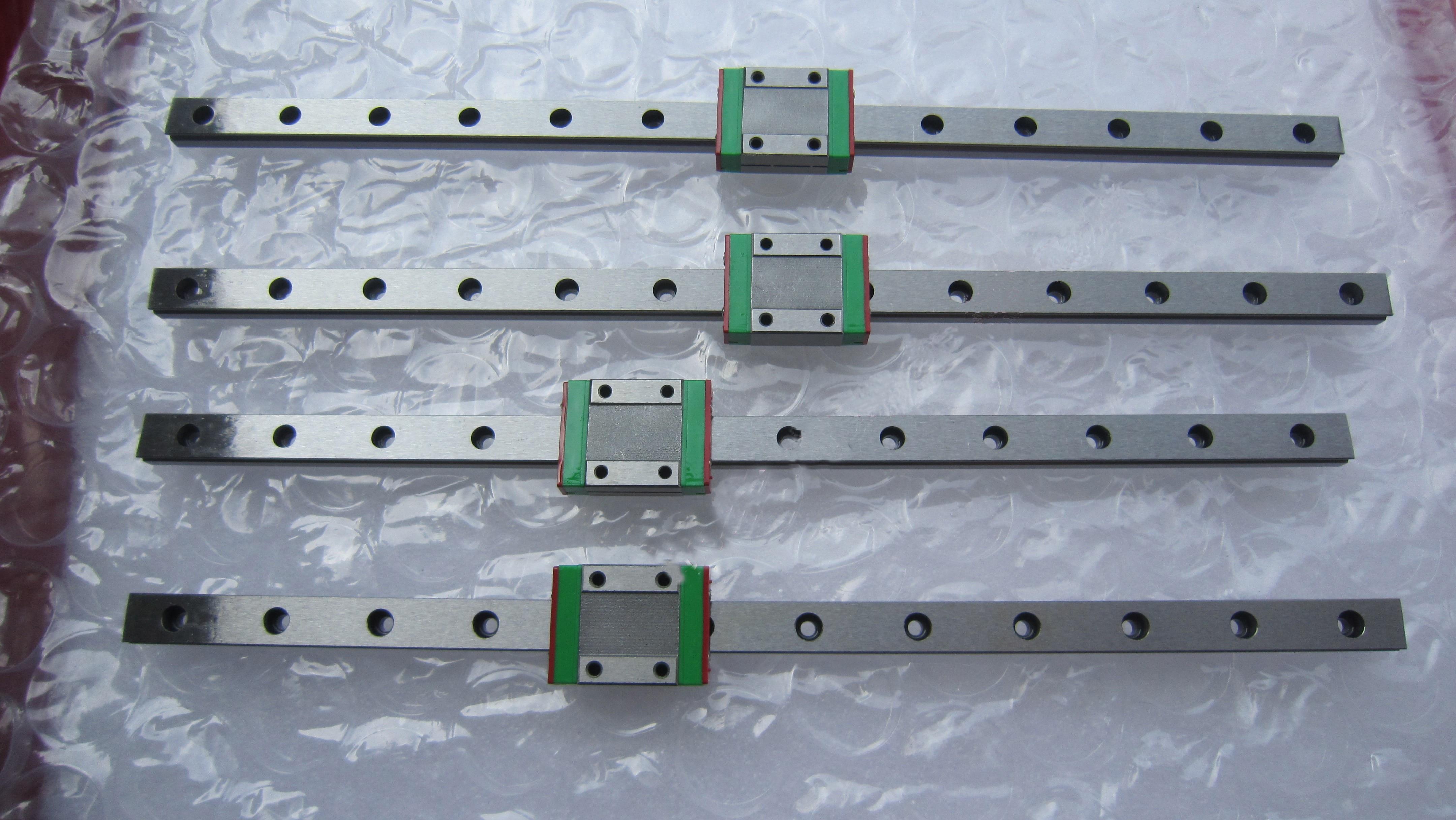 Hiwin HGR25 lineal + controlador + aire fresco cuadrado 3.5kw er25 husillo + inversor + cadena de cable + circuito cerrado paso a paso motor kit cnc partes