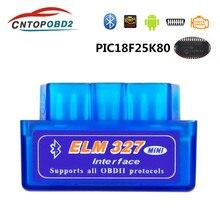 Super mini elm327 obd2 scanner elm327 bluetooth v 1.5/2.1 obd2 ferramenta de diagnóstico do carro para android/windows/symbian obdii protocolo