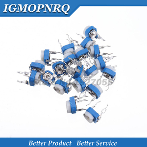 20pcs RM065 RM-065 100 200 500 ohm 1K 2K 5K 10K 20K 50K 100K 200K 500K 1M ohm Trimpot Trimmer Potentiometer Variable Resistor