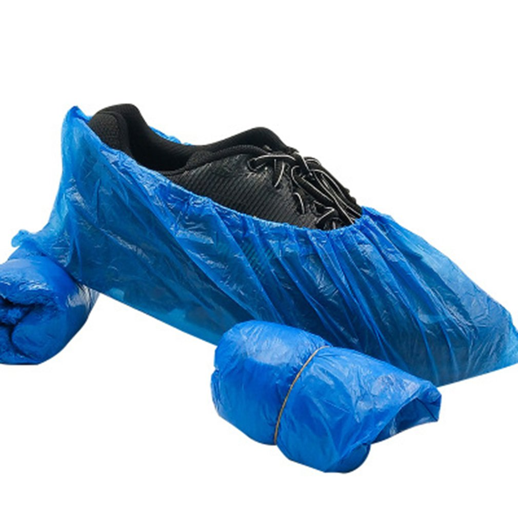 Disposable PE environmental protection plastic shoe cover indoor and outdoor easy to use Disposable Shoe Cover