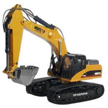 HUINA 1580 1:14 2.4G 23Ch Full Alloy Rc Excavator huina 560 1 14 2 4g 16ch metal rc excavator alloy drilling truck rtr with broken disassemble charging rc cars model toys