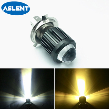 1pcs H4 H6 BA20D moto Led Motorcycle Headlight Bulbs CSP lens Moto 6000LM Hi Lo Lamp Scooter Accessories Fog Lights 6000K 12V 12v 24v relay harness control cable for h4 hi lo hid bulbs wiring controller