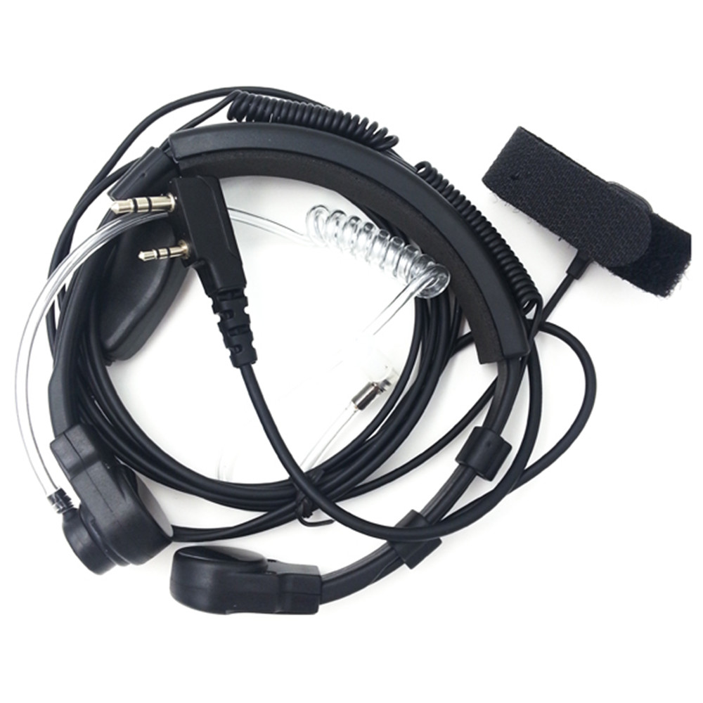 Throat Control Earpiece Acoustic Tube Earpiece Mic Finger Dual PTT For Baofeng UV-5R Walkie Talkie Two Way Radio