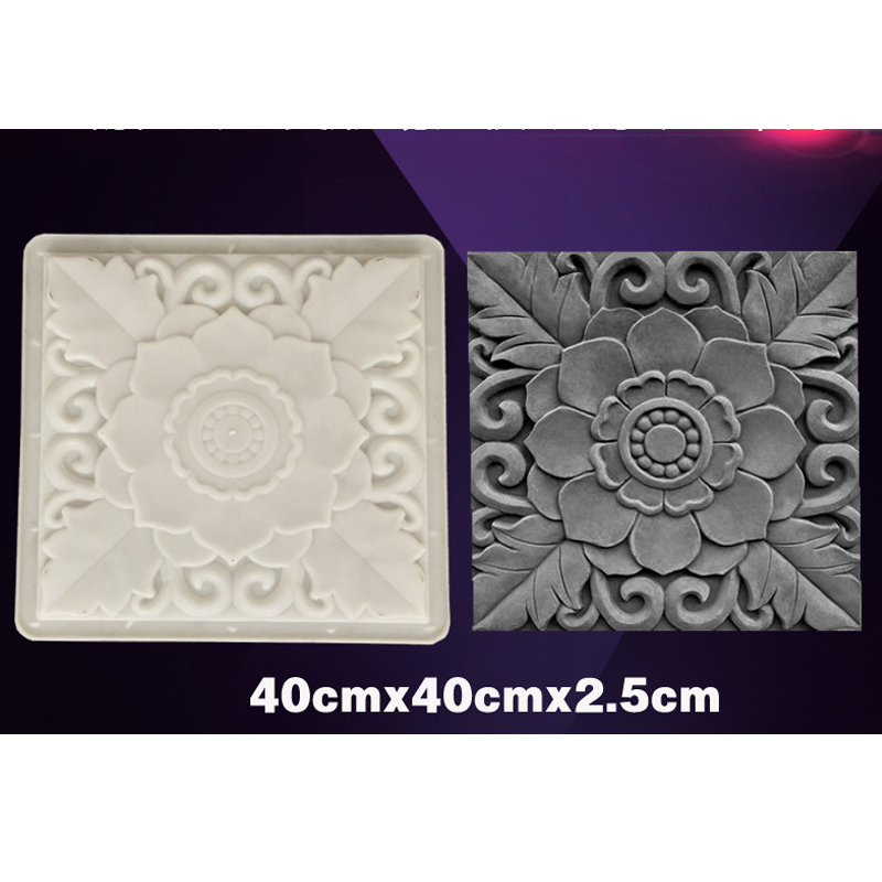 Hollow Diamond Garden Building Concrete Mold Fence Hollow Plastic Brick Mold Antique Courtyard Lawn Flower Pool Cement Mold