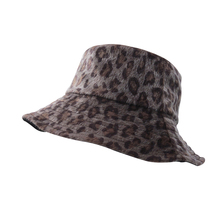 Flannel Leopard Double-Sided Breathable Spring And Summer Panama Bucket Hat Women Cap Hats Fishing Fisherman