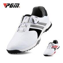 PGM обувь для гольфа мужская Водонепроницаемая дышащая спортивная обувь с вращающейся пряжкой Для Гольфа летние кроссовки тренировочная обувь XZ118