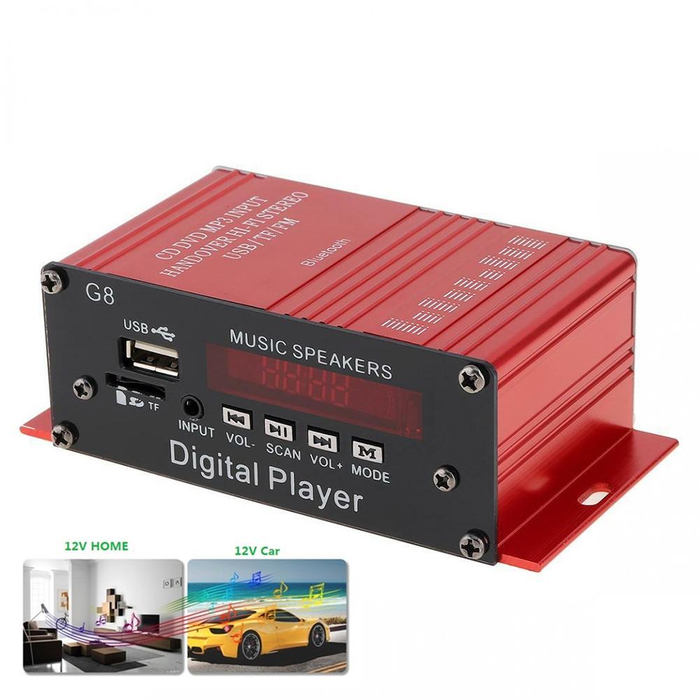 Mini 12V G8 Car Amplifier FM Radio HIFI Audio Power Amplifier Bluetooth Stereo Cars Theater Amplifiers